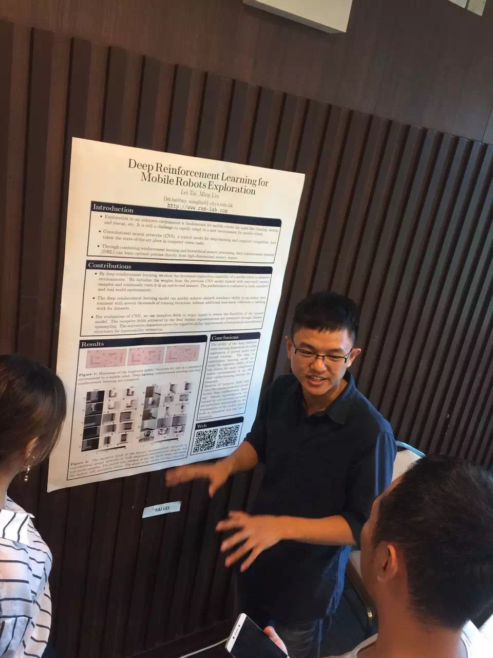 Lei presented a poster at MBE Department City University of HK